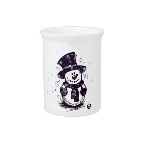 Muñeco de nieve adorable jarras para bebida