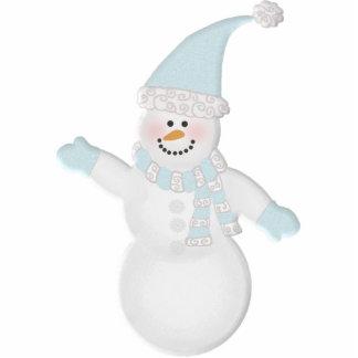 Muñeco de nieve adorablemente lindo adorno fotoescultura