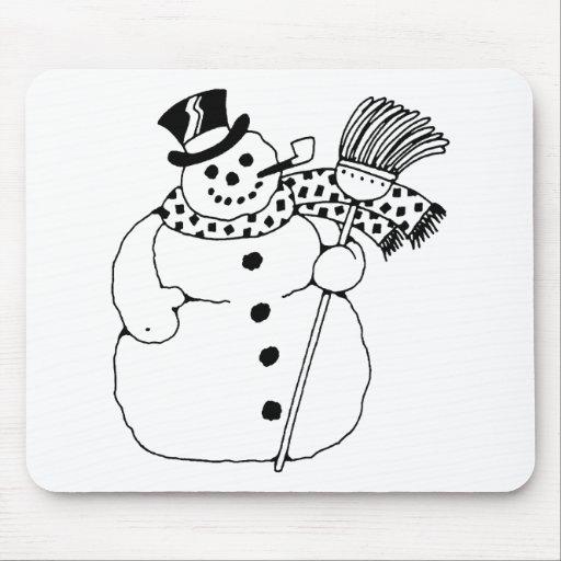 Muñeco de nieve alfombrilla de ratón