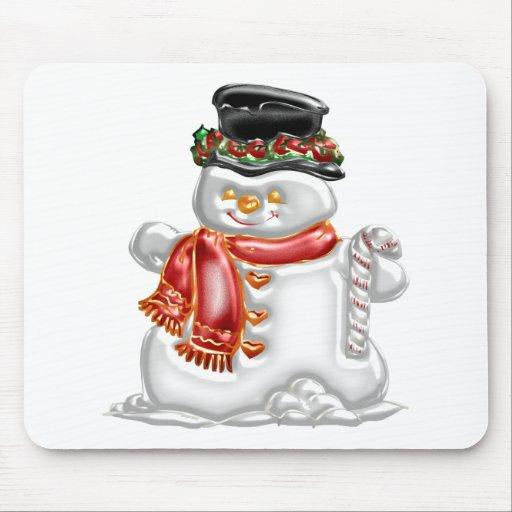 Muñeco de nieve alfombrillas de raton