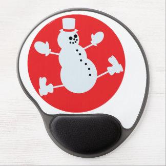 Muñeco de nieve alfombrillas de ratón con gel