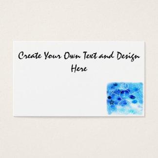 Muñeco de nieve azul del navidad tarjeta de negocios