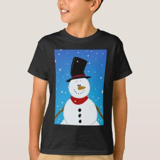 Muñeco de nieve - azul playera