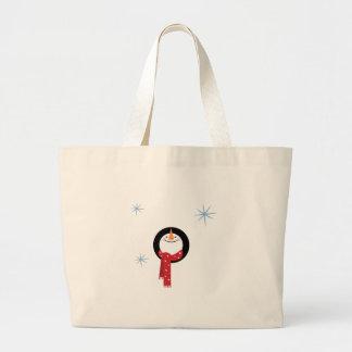 Muñeco de nieve bolsa tela grande