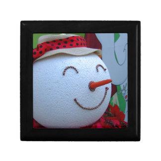 Muñeco de nieve caja de joyas