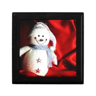 Muñeco de nieve caja de recuerdo