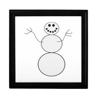 Muñeco de nieve cajas de joyas