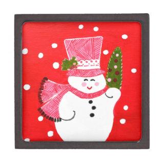 Muñeco de nieve cajas de joyas de calidad