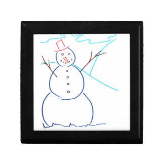 Muñeco de nieve cajas de regalo