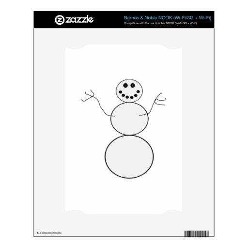 Muñeco de nieve calcomanía para el NOOK