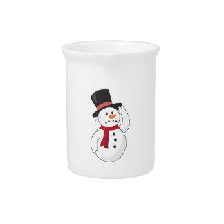 Muñeco de nieve caliente jarra