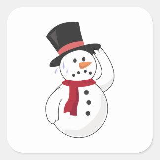 Muñeco de nieve caliente colcomanias cuadradases