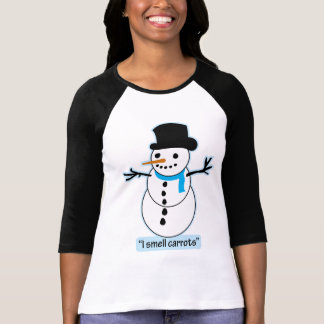 muñeco de nieve camiseta