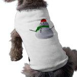 Muñeco de nieve camiseta de perro