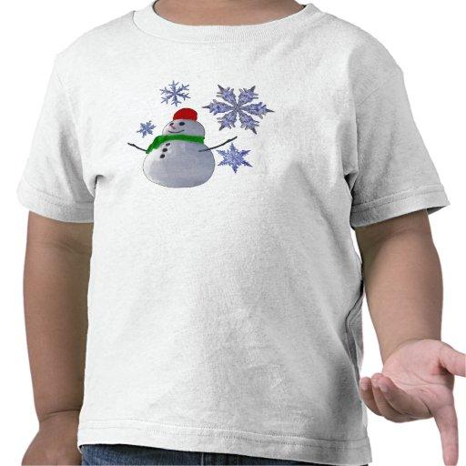 Muñeco de nieve camisetas