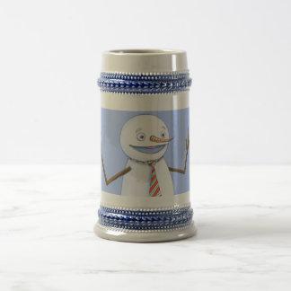 Muñeco de nieve cantante jarra de cerveza