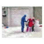 Muñeco de nieve - cirugía reconstructiva invitación