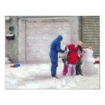 Muñeco de nieve - cirugía reconstructiva invitación 10,8 x 13,9 cm