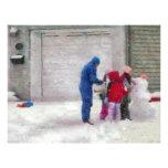 Muñeco de nieve - cirugía reconstructiva membrete personalizado