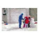 Muñeco de nieve - cirugía reconstructiva  papeleria de diseño