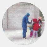 Muñeco de nieve - cirugía reconstructiva pegatina redonda