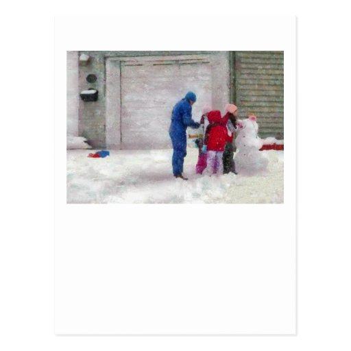Muñeco de nieve - cirugía reconstructiva postal