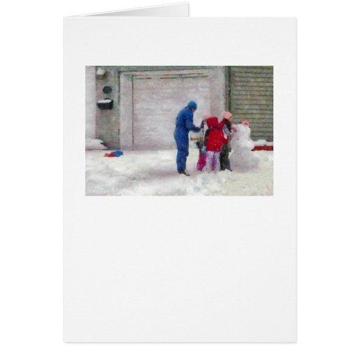 Muñeco de nieve - cirugía reconstructiva felicitacion