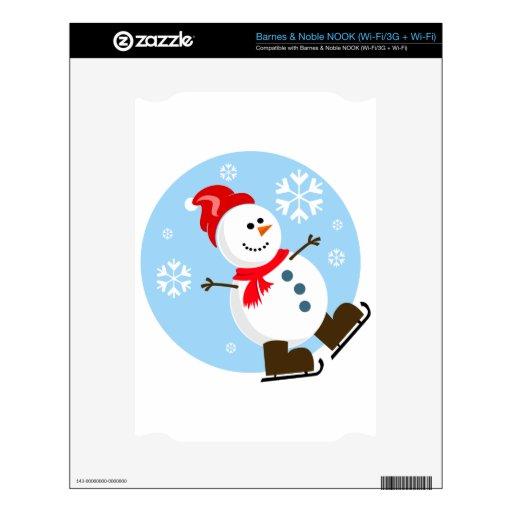 Muñeco de nieve con el gorra rojo skin para el NOOK