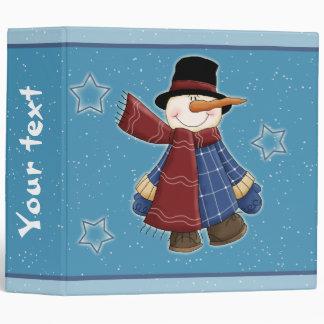 """Muñeco de nieve con las estrellas carpeta 2"""""""