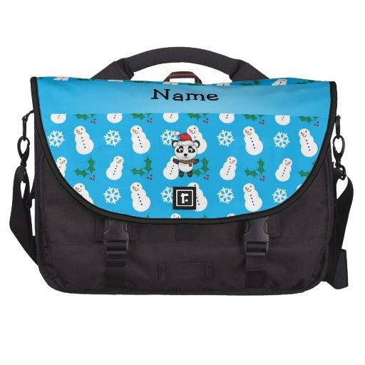 Muñeco de nieve conocido personalizado del azul de bolsas de portátil