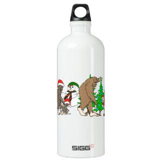 Muñeco de nieve de Bigfoot Santa Botella De Agua