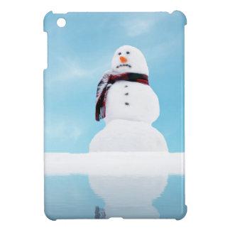 Muñeco de nieve de fusión del calentamiento del pl iPad mini funda