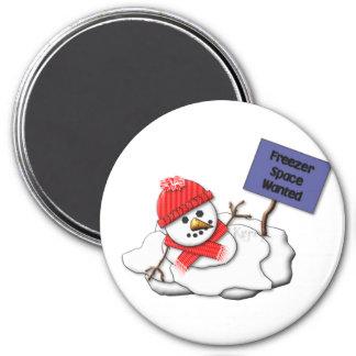 Muñeco de nieve de fusión del KRW Imán Redondo 7 Cm