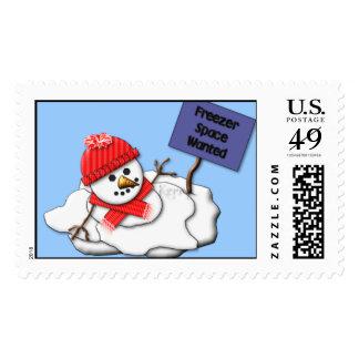 Muñeco de nieve de fusión del KRW Timbres Postales