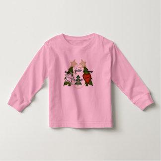 Muñeco de nieve de la alegría del amor de la paz tshirts