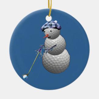 Muñeco de nieve de la pelota de golf adorno de reyes