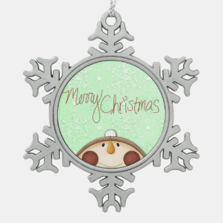 Muñeco de nieve de las Felices Navidad Adorno