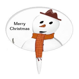 Muñeco de nieve de las Felices Navidad Decoraciones Para Tartas