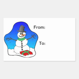 Muñeco de nieve de las felices Navidad Rectangular Altavoces