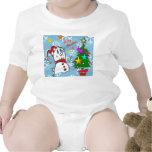 Muñeco de nieve de las Felices Navidad Trajes De Bebé