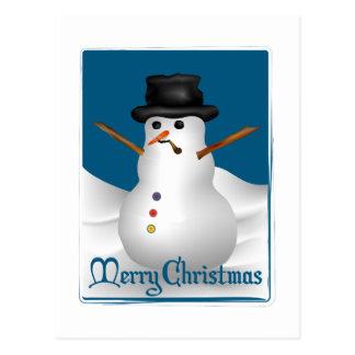 Muñeco de nieve de las Felices Navidad Tarjetas Postales