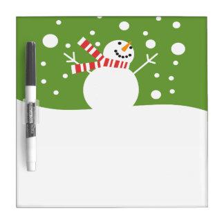 Muñeco de nieve de las vacaciones de invierno pizarras blancas de calidad