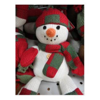 Muñeco de nieve de Mittened Tarjetas Postales