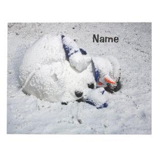 Muñeco de nieve de muerte de la libreta bloc de notas