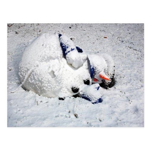 Muñeco de nieve de muerte de la postal