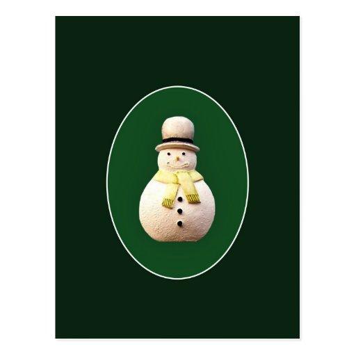 Muñeco de nieve de Navidad Tarjetas Postales