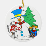 Muñeco de nieve de New México Ornamento De Reyes Magos