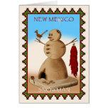 Muñeco de nieve de New México Tarjeta