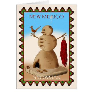 Muñeco de nieve de New México Tarjeta De Felicitación