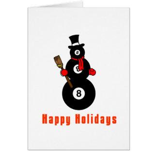 Muñeco de nieve de PoolChick buenas fiestas Tarjeta De Felicitación